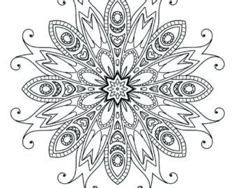 detailed snowflake coloring page simple printable coloring pages for adults gel pens by tocolor