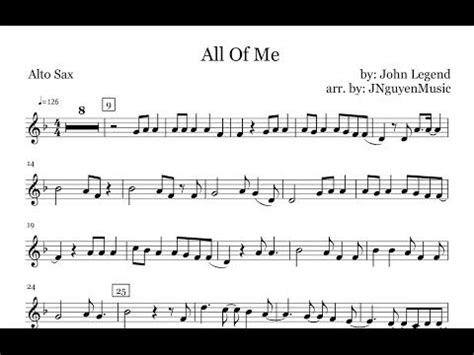 how to play all of me john legend part 2 chorus all of me john legend saxophone sheet music