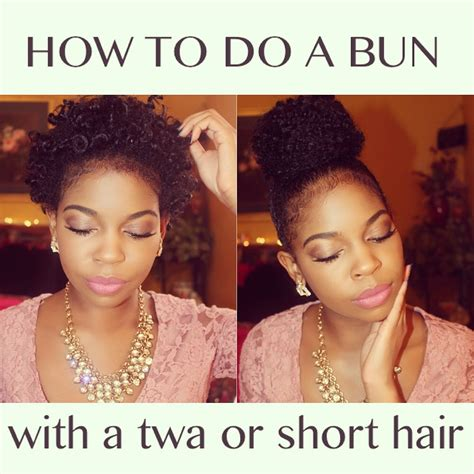 how to put clips in short natural african american hair how to do a high bun with a twa or short hair youtube