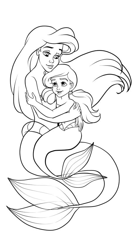Coloring Pages Ariel And Melody by Ariel Coloring Pages Color S Melody