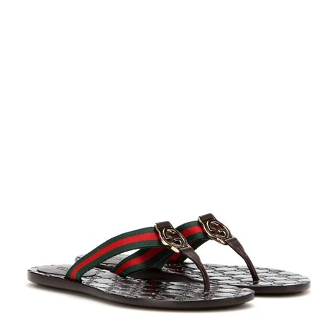 gucci sandals gucci leather sandals lyst