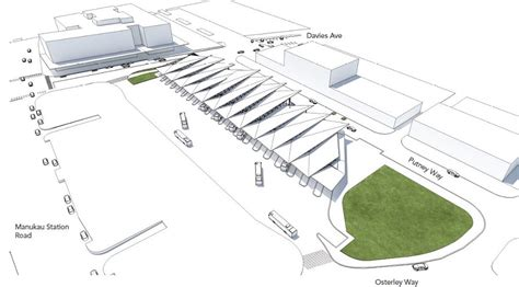 Design Concept Of Bus Terminal | manukau interchange what is proposed and what could be