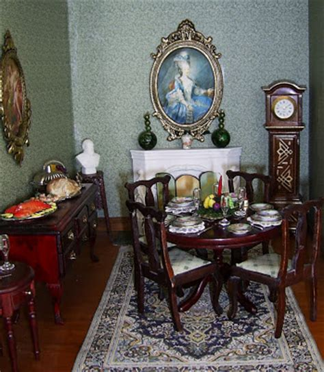 Edwardian Dining Room Decor Dolls Houses And Minis Interior Decorating For An
