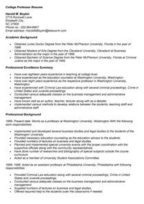 College Professor Resume Sles by Doc 618800 College Professor Resume Resume Exles Bizdoska