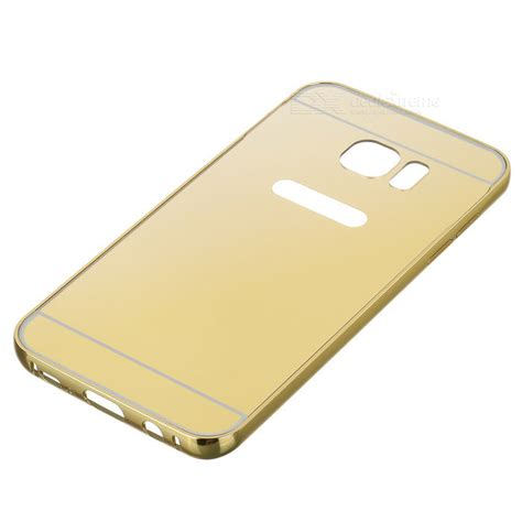 Bumper Led Samsung Galaxy A7a8 Gold metal bumper back cover for samsung galaxy s7 edge golden free shipping dealextreme