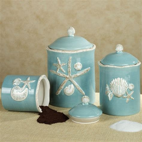 beach themed kitchen canisters coastal canisters coastal decorative accessories