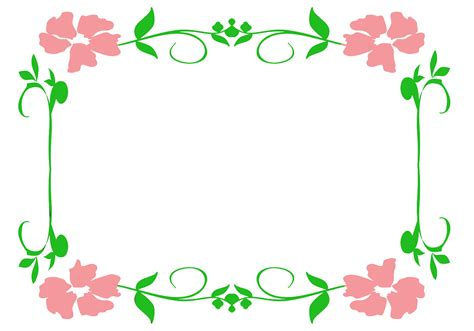 flower border template flower borders and frames