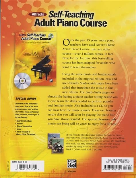 piano k play the self teaching piano for level 2 books alfred s self teaching piano course book with