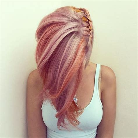 show me a picture of get this hairstyle from vikings 20 magnifiques rose pastel coiffures et couleurs de