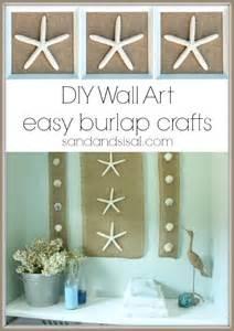 diy wall coastal burlap craft sand and sisal