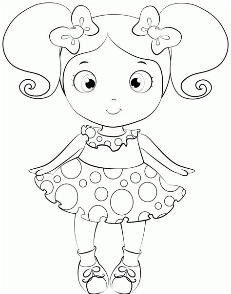 Free Printable Baby Doll Coloring Pages Coloring Home Doll Coloring Page