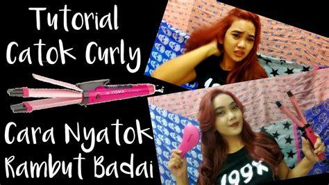 cara memakai catok rambut curly hair tutorial 1 cara nyatok rambut curly badai catok