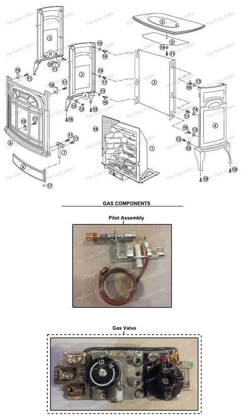 Vermont Castings Gas Fireplace Parts by Vf25 Stardance Vent Free Gas Heater Vf25 The Cozy Cabin