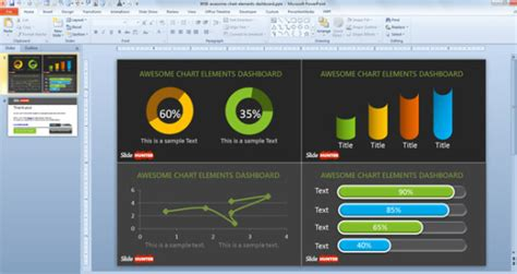 Digital Dashboards And Scorecard Designs For Inspiration Project Dashboard Template Powerpoint Free