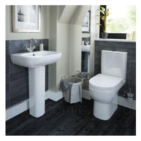 ergonomic bathroom contemporary wc toilet and pedestal basin 4 piece bathroom