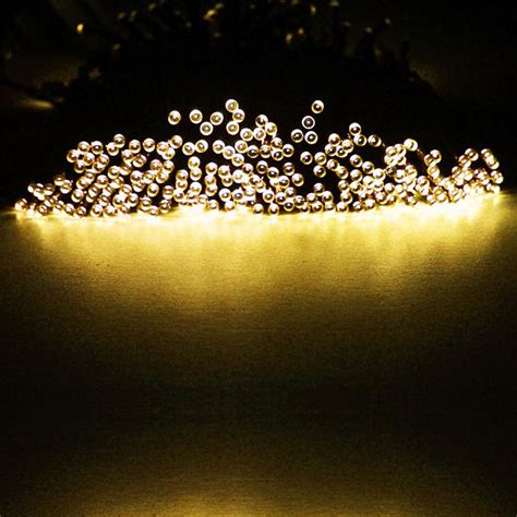 Outdoor Tree Lights Solar Charm Led Solar Power String Lights Wedding Outdoor Tree Decor L Ebay