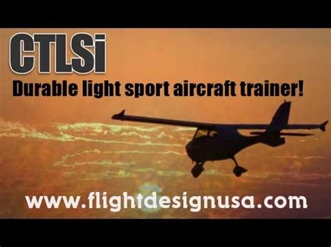 ct light sport aircraft flight design usa ctls ctlsi ctsw ct light sport