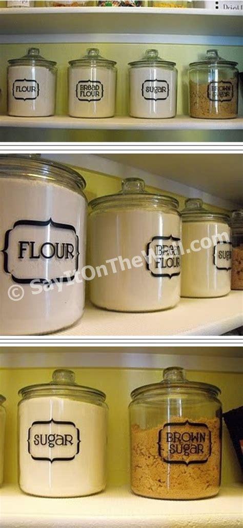 Pantry Jar Labels by Sayitonthewall