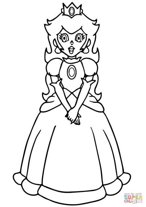 princess peach clipart coloring page pencil   color
