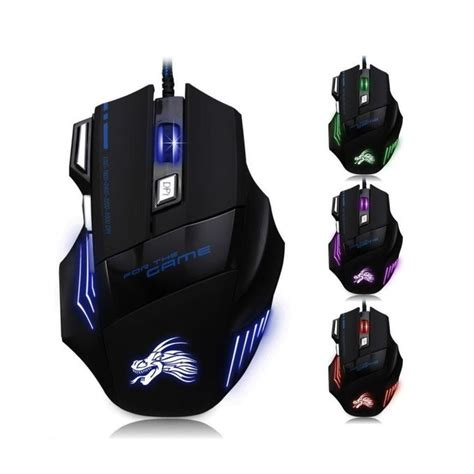 Mouse Gaming Mediatech mediatech x7 ultra rainbow backlit 3d led 7 buttons gaming
