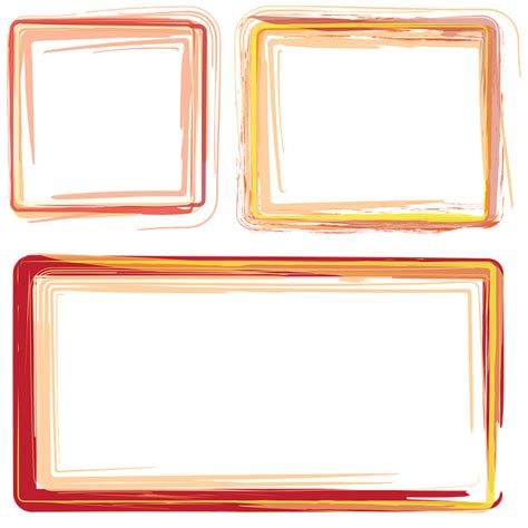 cornici x foto gratis free illustration frames borders orange frame free