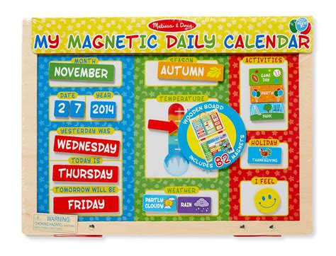 amazon com melissa doug my first daily magnetic