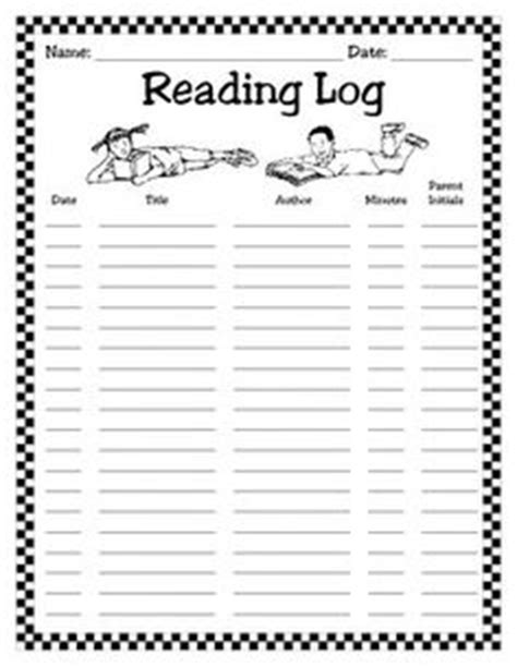 printable monthly reading log for kindergarten monthly reading logs reading pinterest reading logs