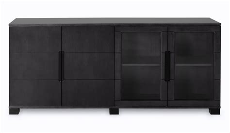 Hayes Modern Cabinet   Black Oak with Glass Doors   Zuri
