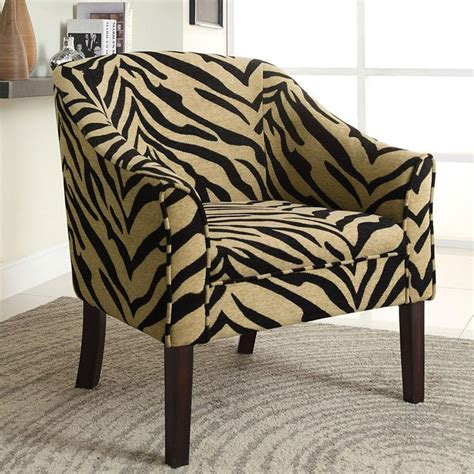 tiger chair tiger print accent chair by coaster furniture furniturepick