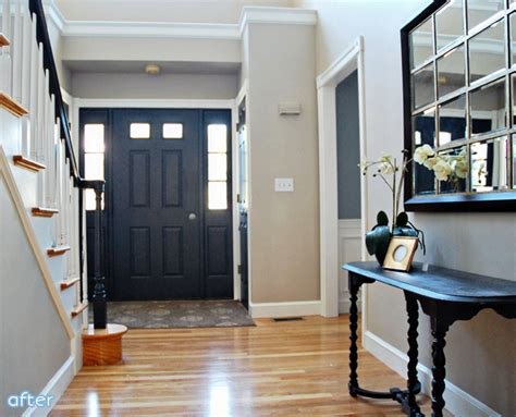 I See A Boring Door And I Want To Paint It Black Better Black Interior Front Door