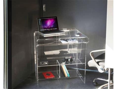 bureau plexi meubles transparents de bureau design et fonctionnel