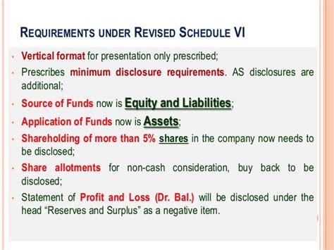 Cash Flow Format Under Revised Schedule Vi | financial statement analysis