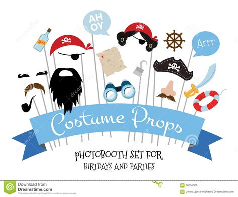 free printable photo booth props pirate pirate photo booth props and scrapbooking vector set stock