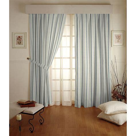vorhänge mit kräuselband vorhang mit kr 228 uselband creme blau streifen 130x310 cm