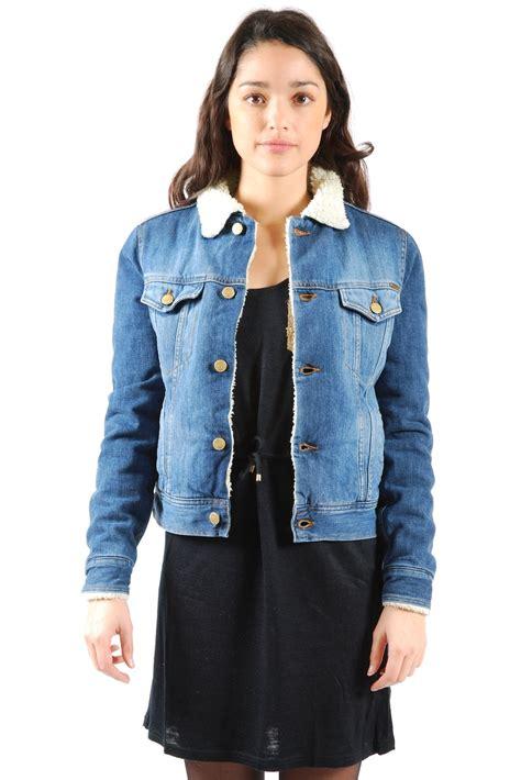 Denim Jacket Import fur lined denim jacket from marais by acquaverde shoptiques