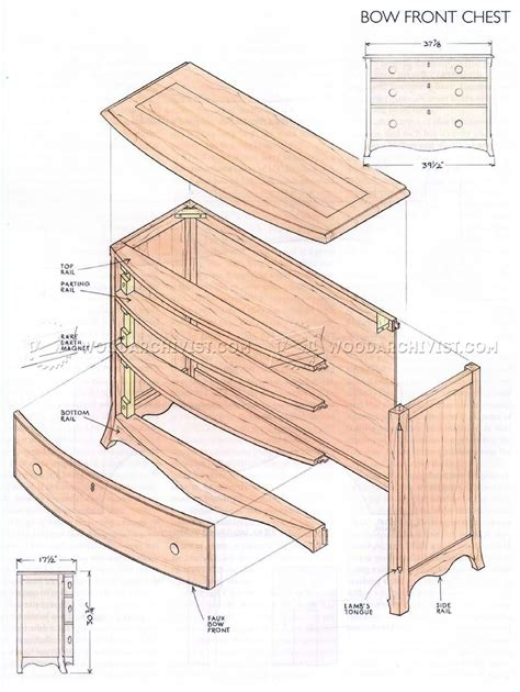 bow front chest plans woodarchivist
