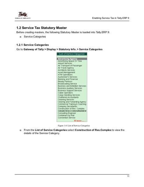 service ta service tax in tally erp 9