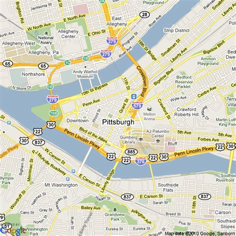 map of pittsburgh pittsburgh on us map images