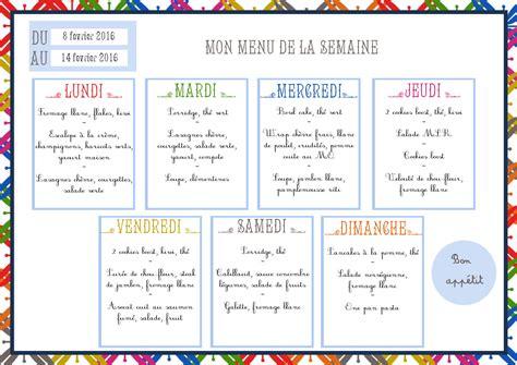 menus de la semaine kerfesse
