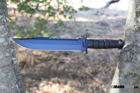 ka bar big kabar 2211 big fixed blade spine serrations