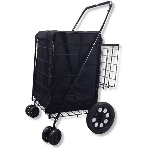 rollen wagen honey can do rolling 4 wheel utility cart black walmart