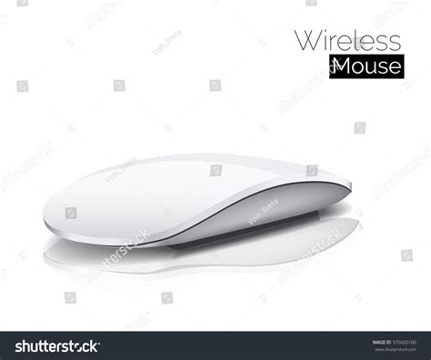Mouse Wireless Logo Apple wireless vector computer mouse stock vector 370420100