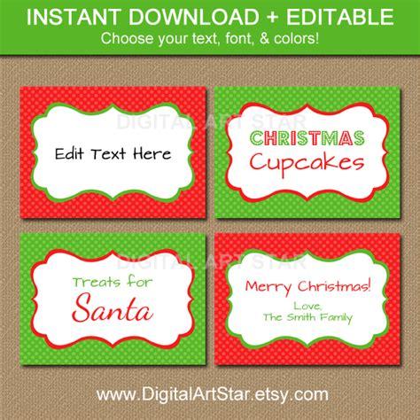 printable christmas party name tags digital art star printable party decor new editable