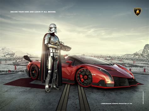 lamborghini ads lamborghini advertising captain phasma on behance