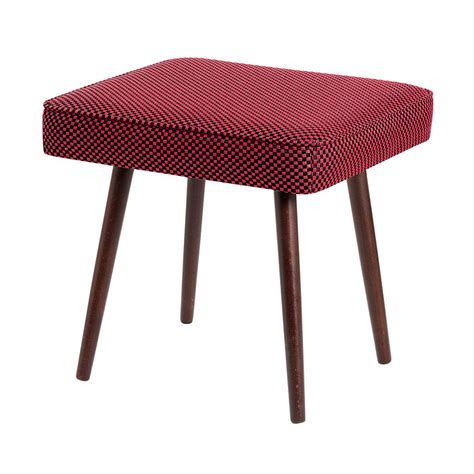 Hocker Rot by Karo Hocker Rot Schwarz Nierentisch Cocktailsessel