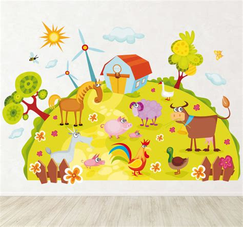 planet wall stickers farm planet wall decal tenstickers