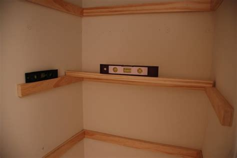 Installing Wood Shelves In Closet by Lively Green Door Guest Room Closet Shelving Part One