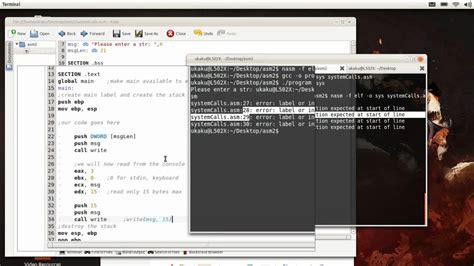 tutorial assembly linux nasm system interrupts assembly tutorial read youtube