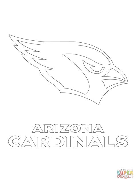 arizona cardinals logo coloring page free printable
