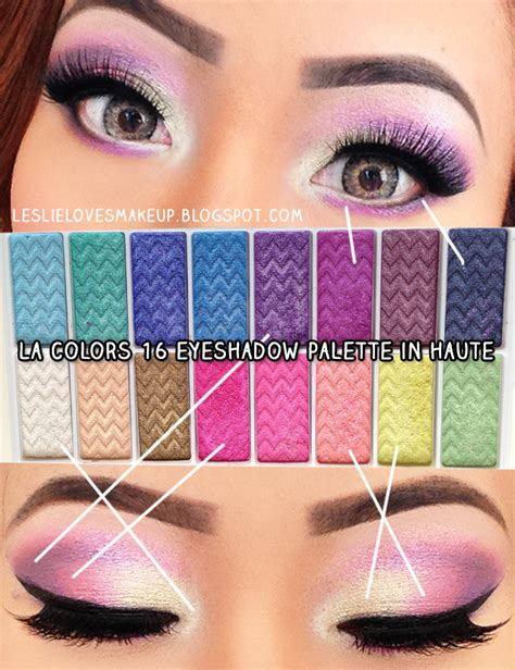 La Colors Matte Eyeshadow Original Leslie Makeup Bright Colorful Look Using La Colors